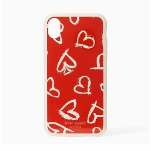 NIB- Kate Spade ♠️ Hearts Scatter iPhone XS/X Case